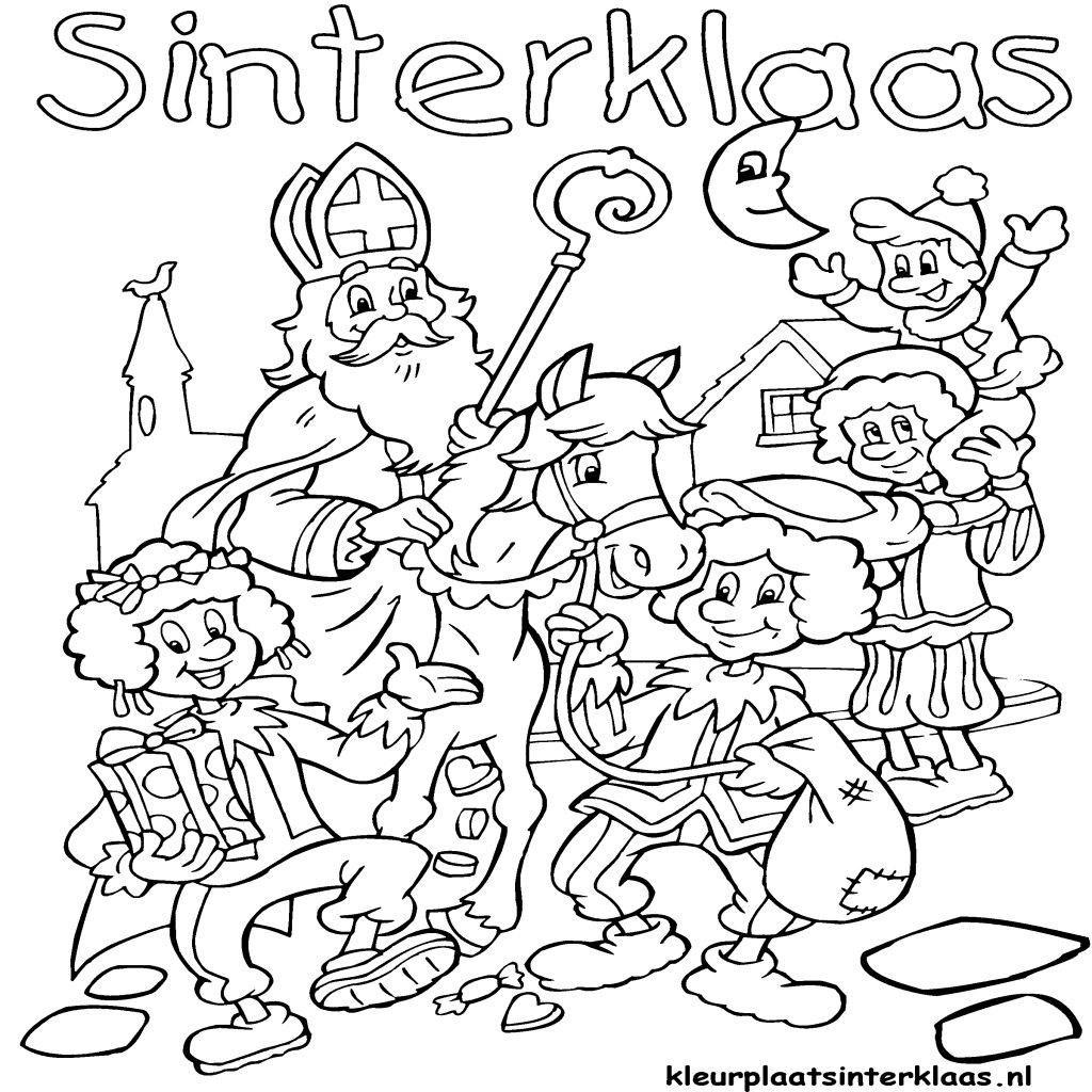 Leuke Kleurplaten Van Sinterklaas.Leuke Kleurplaten Om Te Kleuren Voor Sinterklaas Kleurplaat